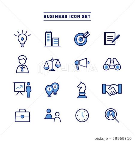 BUSINESS ICON SET 59969310