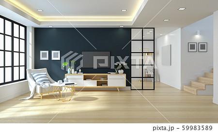 Modern Minimalist Living Room Design,3d rendering 59983589