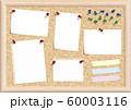 ベクターイラスト コルクボード メモ ピン 画鋲 フレーム コピースペース 右斜め上から光 60003116