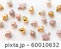 Christmas background with golden and pink balls 60010632