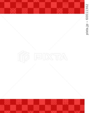 背景-和-和風-和柄-和紙-紅白-パターン-市松模様 60011302