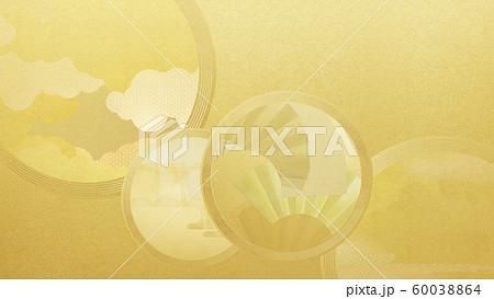 背景-和-和風-和柄-和紙-金箔 60038864