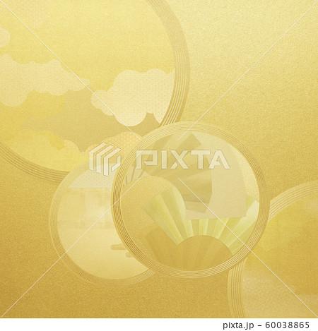 背景-和-和風-和柄-和紙-金箔 60038865
