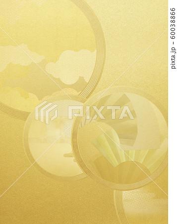 背景-和-和風-和柄-和紙-金箔 60038866