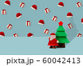 Santa claus and Pine Tree on blue background, Christmas holidays minimal concept. 60042413