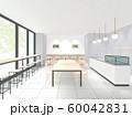 外光の入るカフェのイラスト 60042831