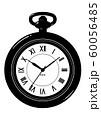 レトロな懐中時計 アンティーク シルエット 透過ver 60056485