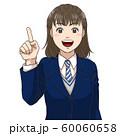 笑顔で説明する女子高校生(冬服) 60060658