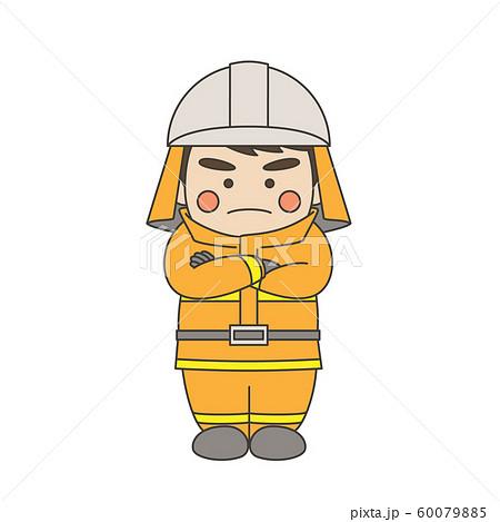 消防士腕組み 60079885