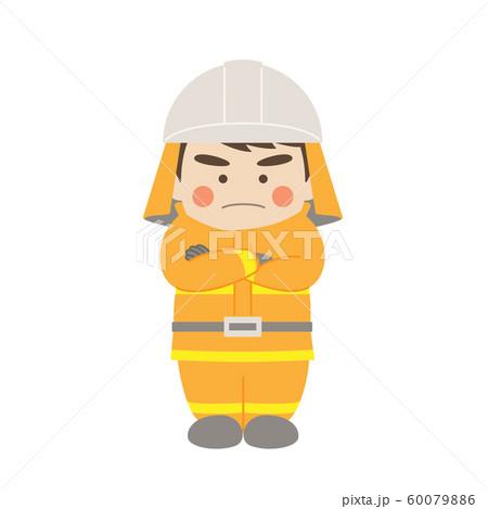 消防士腕組み 60079886