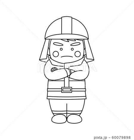 消防士腕組み 60079898