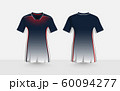 Black, red and white layout e-sport t-shirt design template 60094277