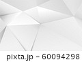 Abstract 3D geometric white polygon and triangles background 60094298