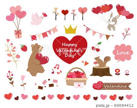 かわいいバレンタインのイラスト素材 60094412