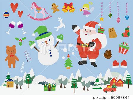 12月 かわいい クリスマス イラスト 素材のイラスト素材