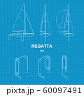 Dinghy sailboats and Racing courses 60097491