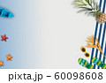 Summer vacation accessories with tropical palm 60098608