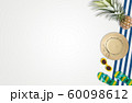 Summer vacation accessories with tropical palm 60098612