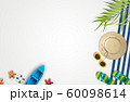 Summer vacation accessories with tropical palm 60098614