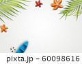 Summer vacation accessories with tropical palm 60098616