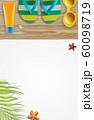 Summer holiday background, Beach accessories, 60098719