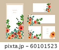 花とハーブのフレーム&バナー 60101523