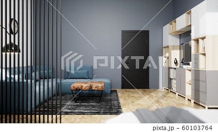 Modern design living room interior with beautiful view . 3D rendering 60103764
