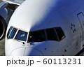 ジェット旅客機の機首部分 60113231