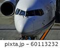 ジェット旅客機の機首部分 60113232