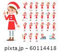 flat type Santa Claus girl_emotion 60114418