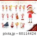 flat type Santa Claus girl_classic music 60114424
