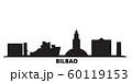 Spain, Bilbao city skyline isolated vector illustration. Spain, Bilbao travel black cityscape 60119153