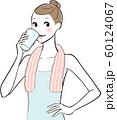 水分 飲む 女性 60124067