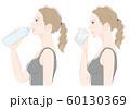 女性の横顔, 熱中症対策 60130369