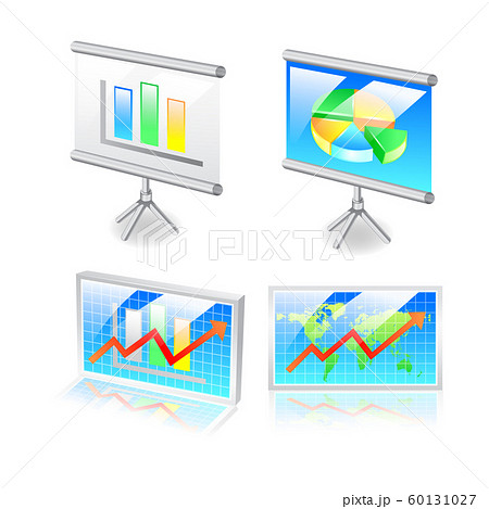 Presentation Icon. 3D Isometric Design. Vector 60131027