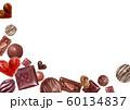 バレンタイン チョコレート 背景 水彩 イラスト 60134837