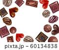 バレンタイン チョコレート フレーム 水彩 イラスト 60134838