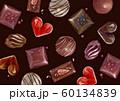 バレンタイン チョコレート 背景 テキスタイル 水彩 イラスト 60134839