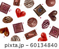 バレンタイン チョコレート 背景 テキスタイル 水彩 イラスト 60134840