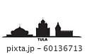 Russia, Tula city skyline isolated vector illustration. Russia, Tula travel black cityscape 60136713