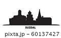 Russia, Suzdal City city skyline isolated vector illustration. Russia, Suzdal City travel black cityscape 60137427