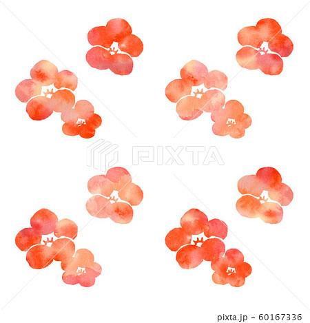 梅の花シルエット模様 60167336