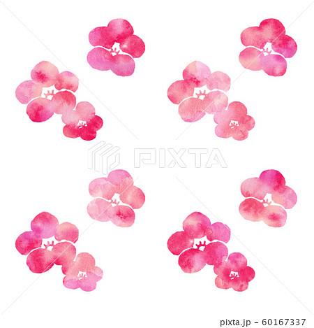 梅の花シルエット模様 60167337