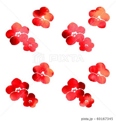 梅の花シルエット模様 60167345