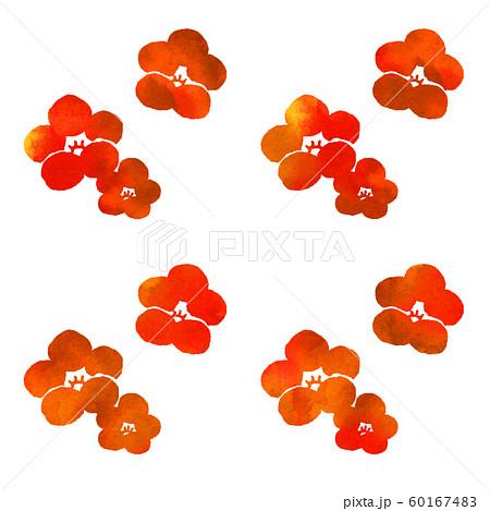 梅の花シルエット模様 60167483