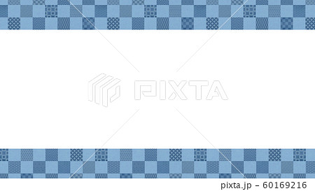 背景-和-和風-和柄-和紙-パターン-市松模様-フレーム 60169216