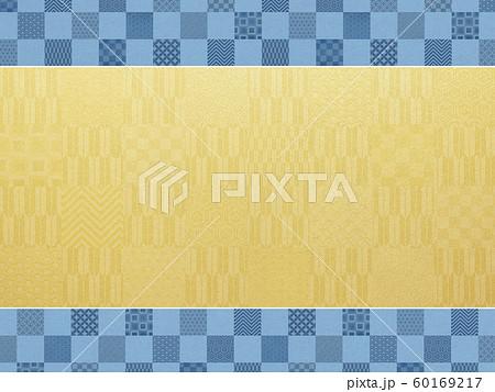 背景-和-和風-和柄-和紙-金箔-パターン-市松模様-フレーム 60169217