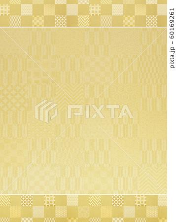 背景-和-和風-和柄-和紙-金箔-パターン-市松模様-フレーム 60169261