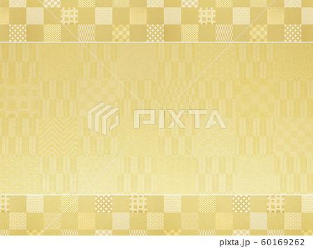 背景-和-和風-和柄-和紙-金箔-パターン-市松模様-フレーム 60169262