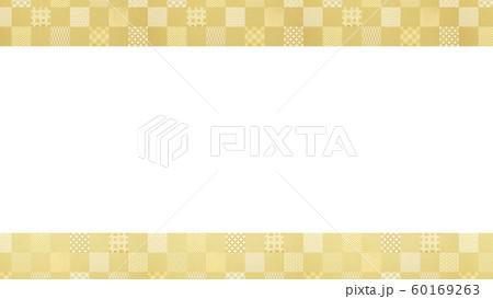 背景-和-和風-和柄-和紙-金箔-パターン-市松模様-フレーム 60169263